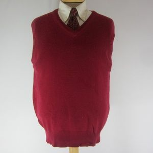 Vintage Brooks Brothers Mens M Red Cashmere Vest